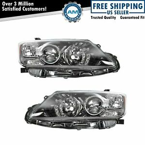 Headlight Headlamp Light Lamp Pair Set Kit Left Lh Right Rh For 11 13 Scion Tc