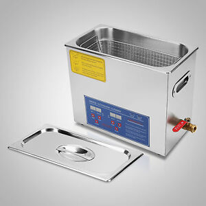 New 6l Ultrasonic Cleaner Stainless Steel Industry Heated Heater W timer Ed
