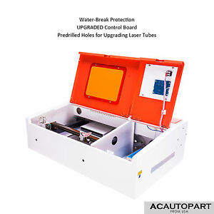 40w Usb Co2 Laser Engraving Cutting Machine Engraver Cutter New Control Board Ed