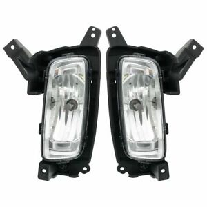 Front Driving Fog Light Lamp Assembly Lh Lf Rh Rf Pair For 14 15 Kia Sorento