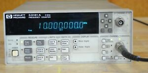 Hp Agilent 53181a Frequency Counter 10 digit s Opt 030 3ghz Tested Good
