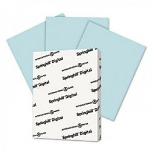 Springhill Digital Index Color Card Stock 90 8 1 2 X 11 Blue 250 Sheets