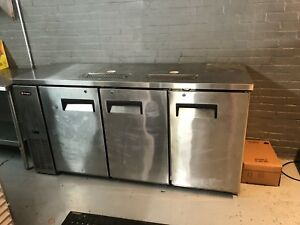 3 tap Commercial Grade Kegerator Stainless Steel Euc