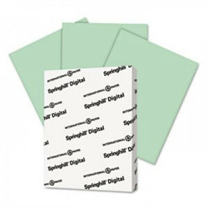 Springhill Digital Index Color Card Stock 90 8 1 2x11 Green 250 Sheets pack