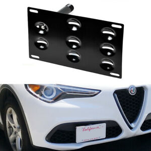 Front Bumper Tow Hook License Plate Mount Bracket For 2018 Up Alfa Romeo Stelvio