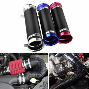 Fits All Car Cold Air Intake Filter Aluminum Induction Kit Pipe Hose System Tube