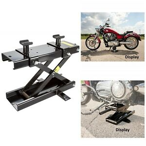 Durable Steel Motorcycle Jack With Lift Range 3 75 To 16 25 1100 Lbs Capacity