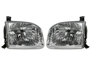 For Toyota Tundra 4 Door 2004 Sequoia 01 04 Left And Right Head Light Set Pair