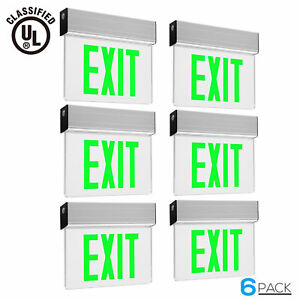 Green Led Exit Sign Ul listed Emergency Light Ac 120v 277v