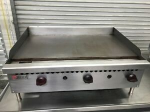 36 Flat Top Griddle Plancha Grill Natural Gas Wolf 8644 Commercial Restaurant