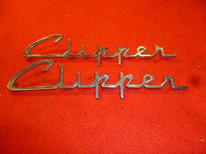 1955 Packard Clipper Front Fender Emblems