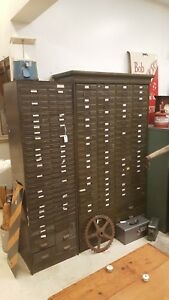 Vintage Industrial File Cabinet Storage 152 Drawer Bin Art Metal Construction Co