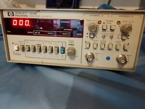Hp Agilent 5316b Industrial Digital Dual Channel Universal Counter System Calibr