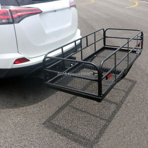 60 Portable Folding Cargo Carrier Luggage Rack Hauler Truck Car Hitch