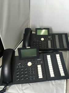 Snom 370 Black Sip Voip Business Phone Expansion Module V2 0 42 Buttons Works