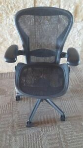 herman Miller Size b Aeron Chairs Lumbar Support Excellent Condition