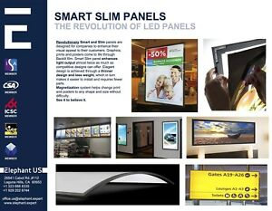 Magnet Frame Led Advertising Display Led Thin Panels 3ft 6ft 37inch 73inch