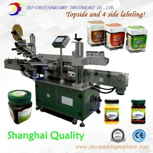 Labeling Machine For Square Bottle 4 side And Topside Labeling multifunction
