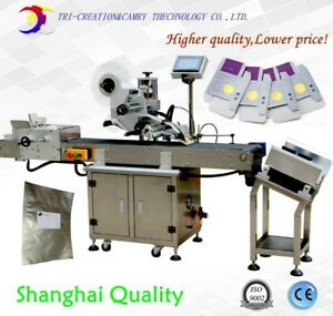 Automatic Bag Plane Paging Labeling Machine adhesive Plate Labeler card Topside