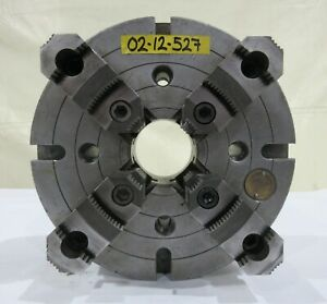 Warner Swasey 12 4 Jaw Independent Manual Chuck A2 8 Mount M 1608s