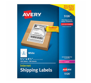 Avery Labels With Trueblock Technology 5 1 2 X 8 1 2 200 count
