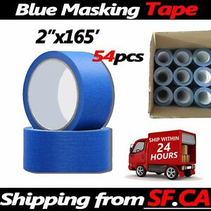 54 Rolls 2 In X 165 Ft Blue Painters Tape Diy Painting Cover Nail Masking Tapes