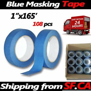 Blue Painters Tape Diy Painting Cover Nail Masking Tapes 1in X165ft 108rolls