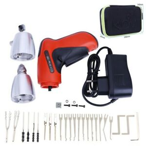 Hot Cordless Electric Lock Pick Gun Locksmith Tools Lock Pick Set Eu Adatper