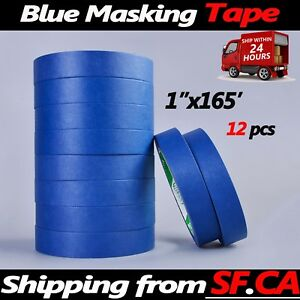 Masking Tape Clean Peel Uv Resistant Painting Adhesive Craft 1 x165ft 12 Rolls