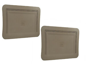 Two New Oem Gm Tan Rubber vinyl Rear Floor Mats W gm Logo For Trucks 1990 1999