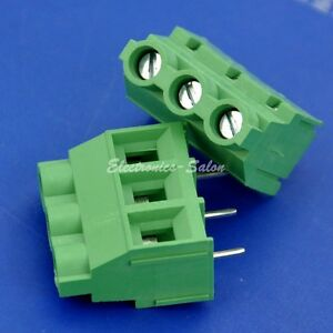 100pcs 3 Poles 7 62mm 0 3 30amp Pcb Universal Screw Terminal Block