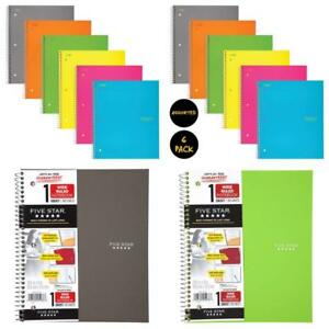 Five Star Spiral Notebooks 1 Subject Wide Ruled Paper 100 Sheets 10 1 2 X 8