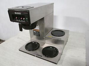 bunn Cwt 15 Hd Commercial pour over automatic nsf Coffee Brewer W 3 Warmer
