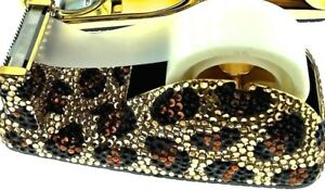 Leopard Spots Tape Dispenser 432 Jeweled Swarovski Crystals Rhinestones Desktop