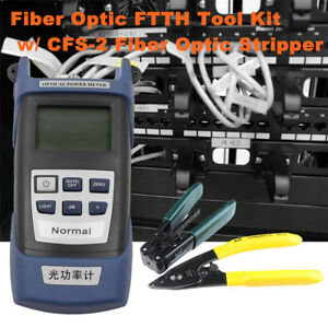 15pcs Fiber Optic Ftth Tool Kit W Optical Power Meter Cleaver Adjusting Tool