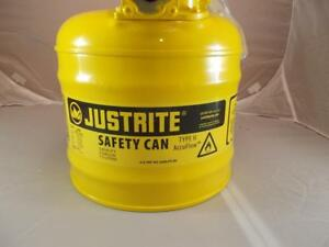 New Metal Justrite Safety Can Type Ii Accuflow With 2 Gallon Capacity