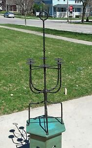 Tommi Parzinger Attributed Candle Holder Light Iron Candelabra