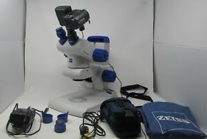 Zeiss Stemi Dv4 Stereo Microscope Camera Transmitted Reflected Illumination