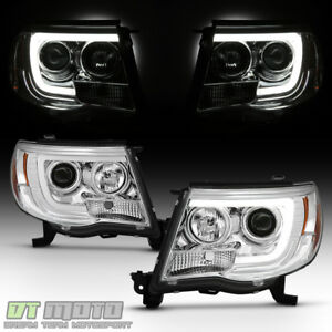 For 2005 2011 Toyota Tacoma Led Tube Projector Headlights Pre X Runner Headlamps
