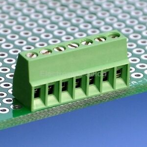 100pcs 7 Poles 2 54mm 0 1 Pcb Universal Screw Terminal Block