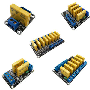 Dc 3 32v 1 2 4 6 8 Channel Solid State Relay Module Board High Level Trigger Pic