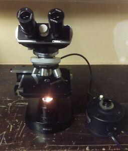 Nikon S Type Microscope With Transformer