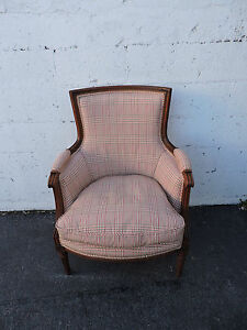 Large French Carved Wood Living Bed Room Side Chair Made In France 7954