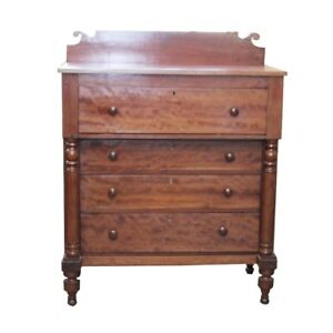 Early American Empire Style Cherry Chest Of Drawers