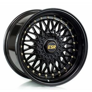Esr Sr03 Black 18 Staggered Fits Most Vehicles Bbs Style
