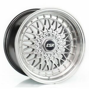 Esr Sr03 Silver 18 Staggered Fits Most Vehicles Bbs Style
