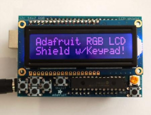 Rgb Lcd Shield Kit With 16x2 Character Negative Display uses Only 2 Pins