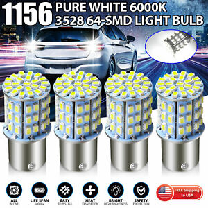 4 X 6000k White 64 Smd Led 1156 1141 1003 Rv Camper Trailer Interior Light Bulb