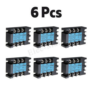 6x 24 480v 3 phase Solid State Relay 40a Ssr Output Ac Dc ac 3 32v Dc Control