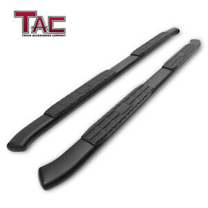 For 2017 2021 Honda Ridgeline 4 25 Black Side Step Rails Nerf Bar Running Board